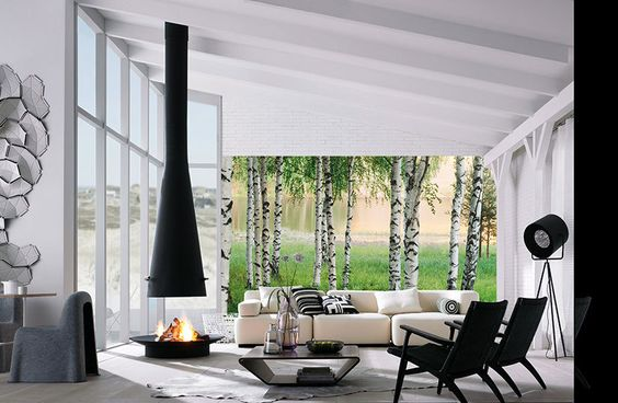 Nordic Forest Mural-WG00381