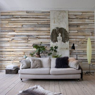 Whitewashed Wood Wall Mural-8-920