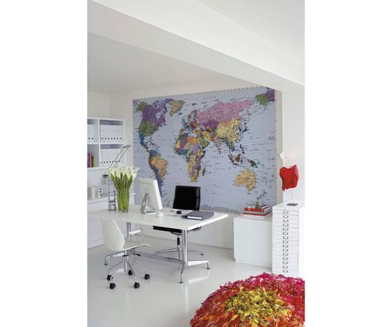 World Map Wall Mural-4-050