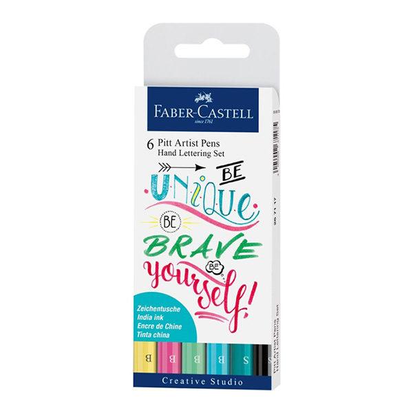 6-pitt-artist-pens-hand-lettering-set-Faber-Castell