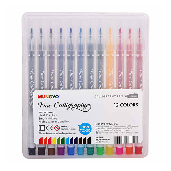 Calligraphy-Pen-Set 12pc Mungyo