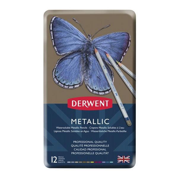 Derwent-Metallic-Pencil-12-Tin-Set-front