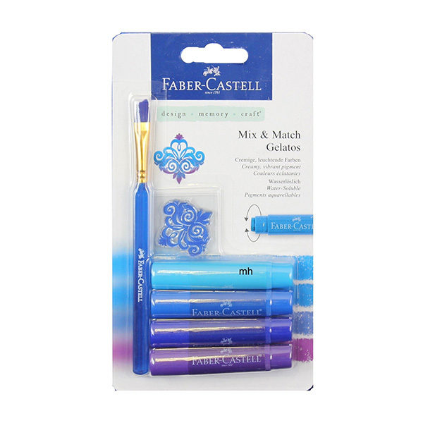 Faber-Castell-Gelato-Water-soluble-Crayons-Blue