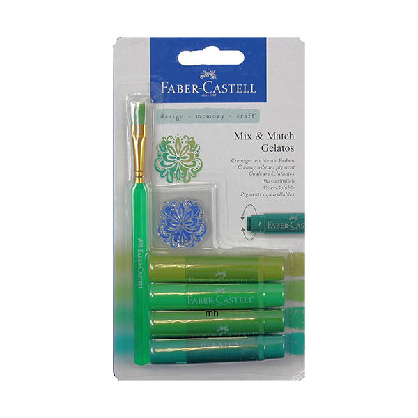 Faber-Castell-Gelato-Water-soluble-Crayons-Green