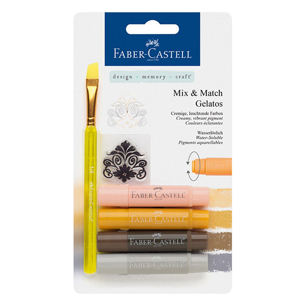 Faber-Castell-Gelato-Water-soluble-Crayons-Neutral