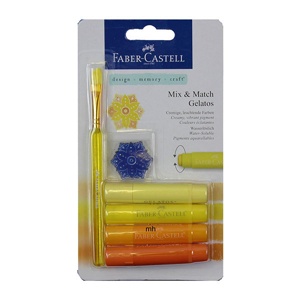 Faber-Castell-Gelato-Water-soluble-Crayons-Yellow