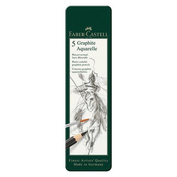 Faber-Castell-Graphite-Aquarelle-tin-of-5-closed