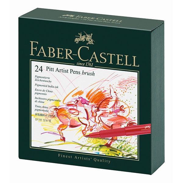 Faber-Castell-Pitt-Artist-Pen-Studio-Box-of-24-front-view