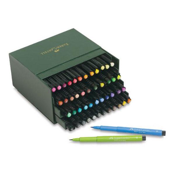 Faber-Castell-Pitt-Artist-Pen-Studio-Box-of-48-colour-range-1