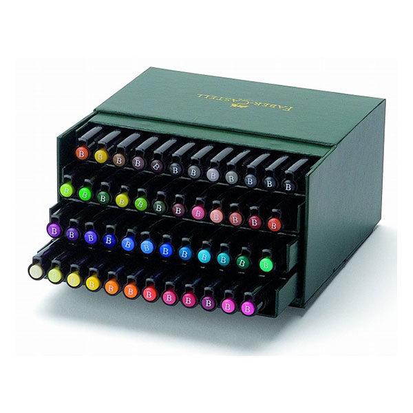 Faber-Castell-Pitt-Artist-Pen-Studio-Box-of-48-colour-range