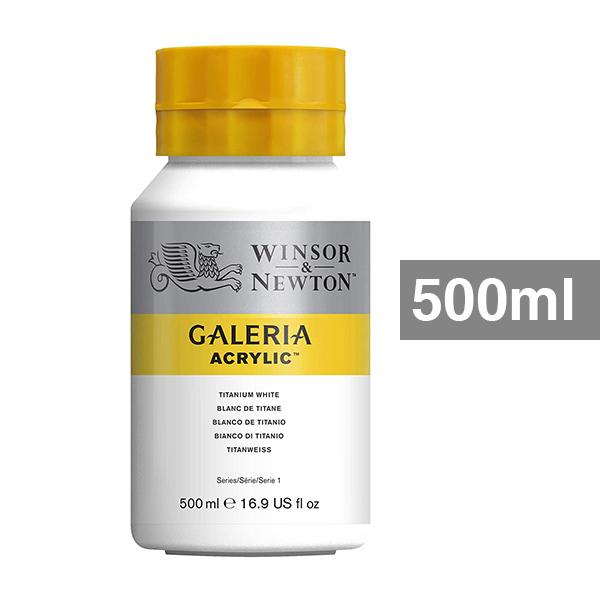 Galeria-Acrylic-500ml-Titanium-White-Bottle