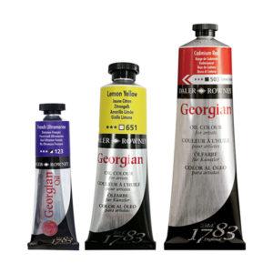 Georgian-Oil-paint-different-size-tubes