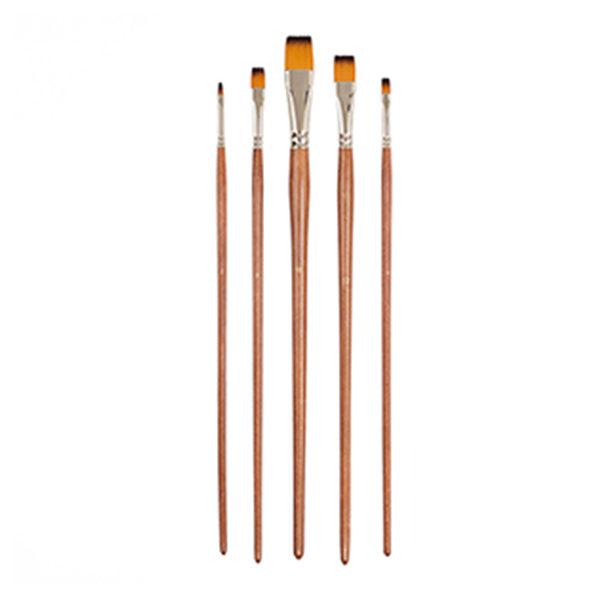 Golden-Brown-Nylon-Brush-Set-of-5