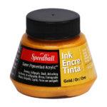 Ink-Encre-Tinta-gold-Speedball