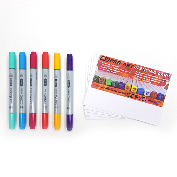 Pro-Art-A6-Blending-Cards-with-6-Copic-Ciao-Sale-new