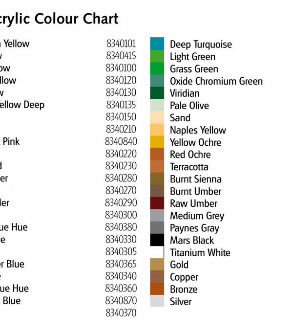REEVES-ACRYLICS-COLOUR-CHART