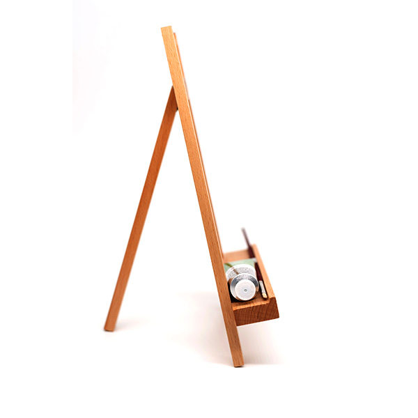 Small-Display-Easel-side-view-with-paint-tube-on-rack