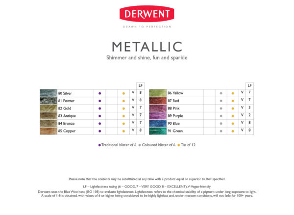derwent-metalic-pencils-colour-chart