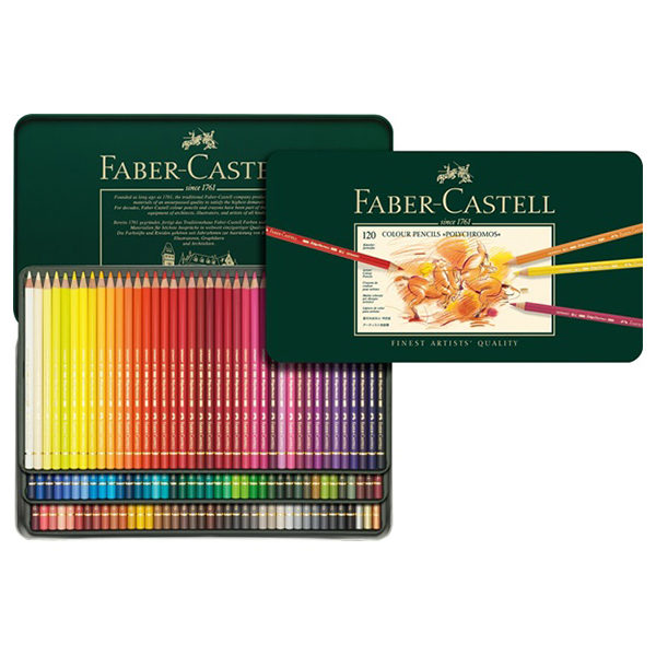 faber-castel-polychromos-120-tin-set-open