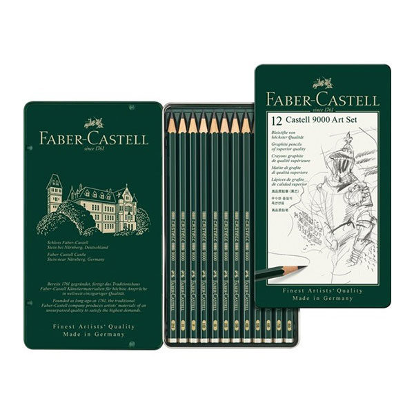 faber-castell-9000-art-set-12-set-tin-open