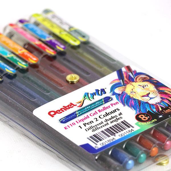 pentel-arts-hybrid-dual-metallic-gel-roller-pens