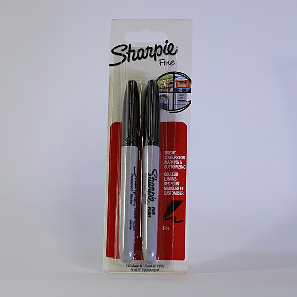 sharpie permanent markers black set of 2 art savings. Black Bedroom Furniture Sets. Home Design Ideas
