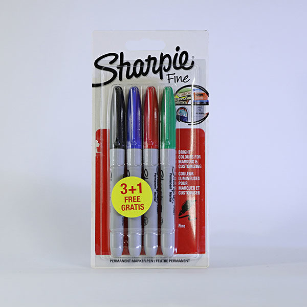 sharpie-fine-permanent-markers-3+1-set