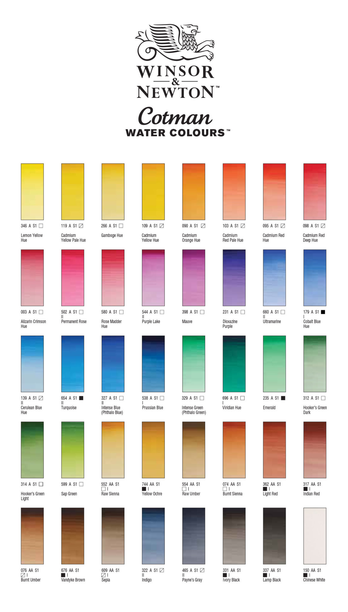 View Colour Chart
