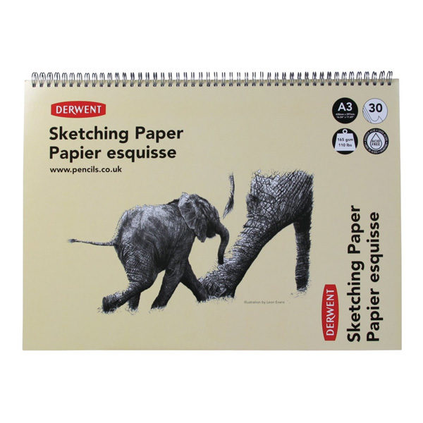 A3-Sketching-Paper-Books-Elephant-Derwent