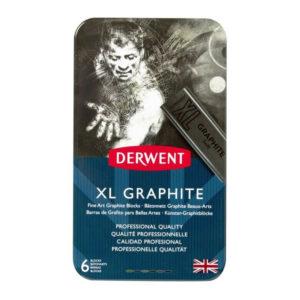 Derwent-XL-Graphite-6-Tin-Set-front