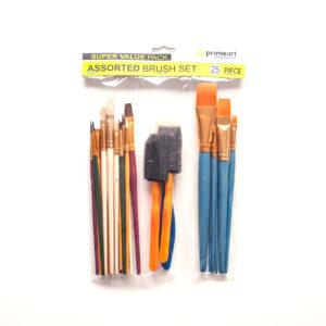 Assorted 25 Piece Brush Set – Prime Art