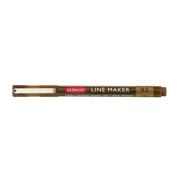 Derwent-Line-Maker-Sepia-0,5-Single-Pen