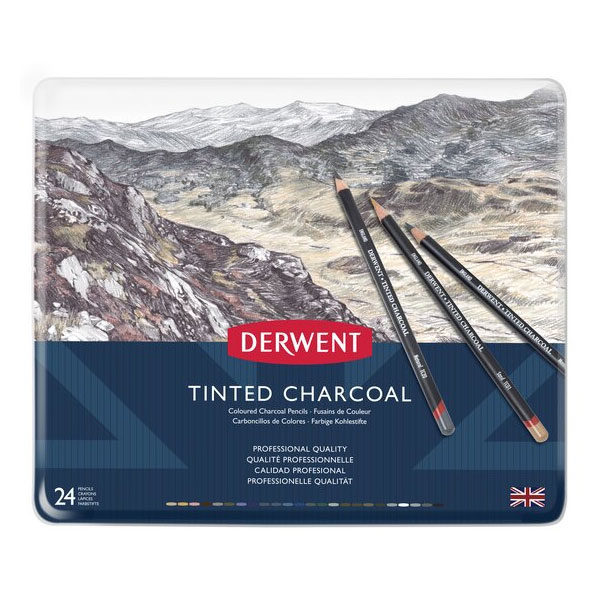 Derwent-Tinted-Charcoal-24-tin-set-front