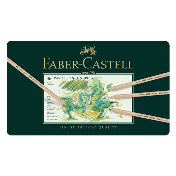 faber-castell-Color-pencil-Pitt-Pastel-tin-of-12-front