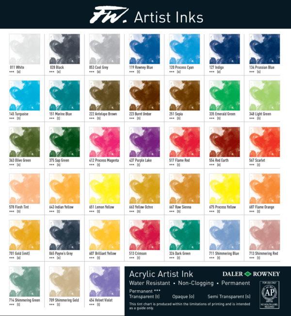 Daler-Rowney-FW-Artist-Acrylic-Ink-Colour-Chart