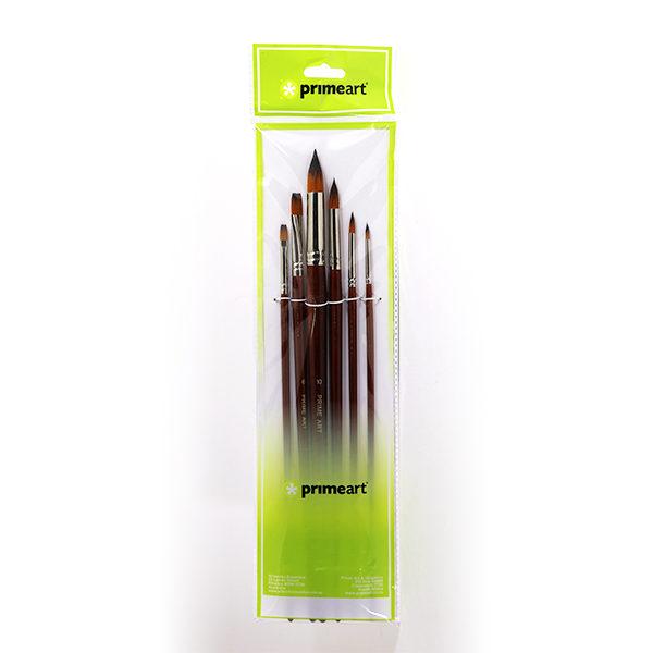 Prime-Art-Golden-Brown-Synthetic-101-Set-6-Pcs