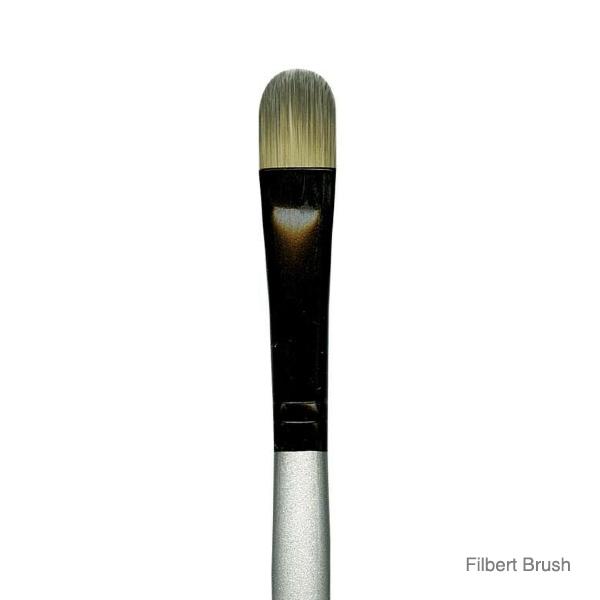 Dynasty-Series-4900-Silver-Black-Filbert-Brush