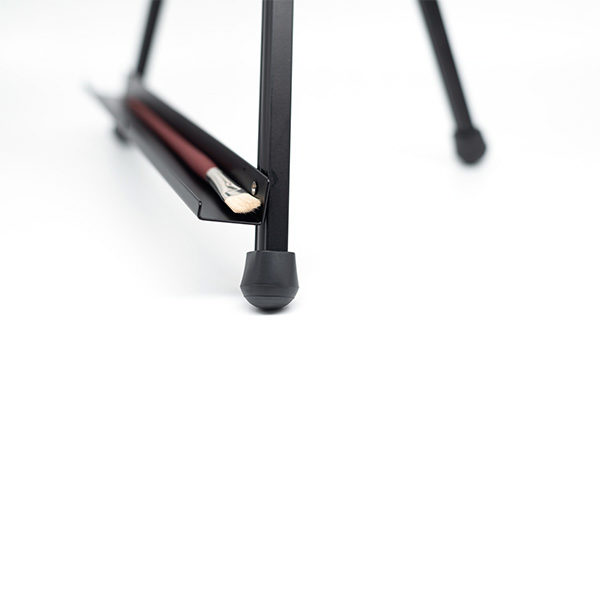 Black-Aluminium-Table-Easel-with-Paint-Brush-in-Rack