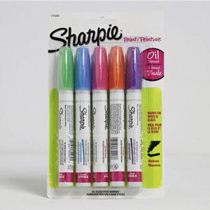 Oil-Based-Medium-Paint-Marker-Set-of-5---Sharpie-Front
