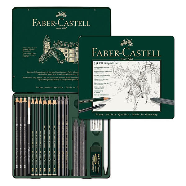 Pitt-Graphite-Set-of-19---Faber-Castell