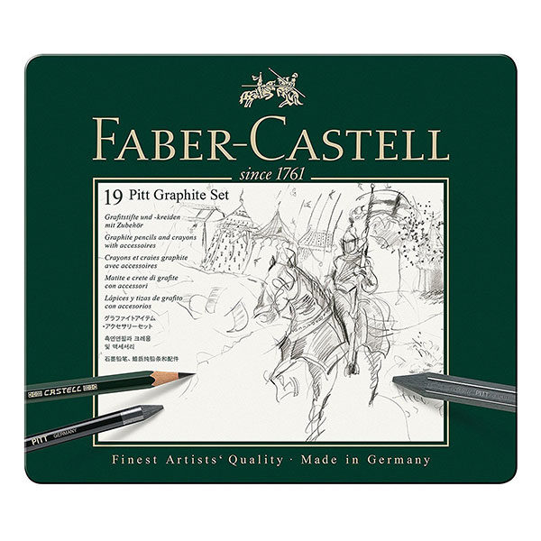 Pitt-Graphite-Set-of-19-Faber-Castell-Front