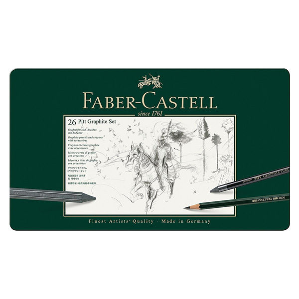 Pitt-Graphite-set-of-26---Faber-Castell
