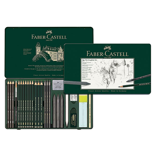 Pitt-Graphite-set-of-26-Faber-Castell-Front