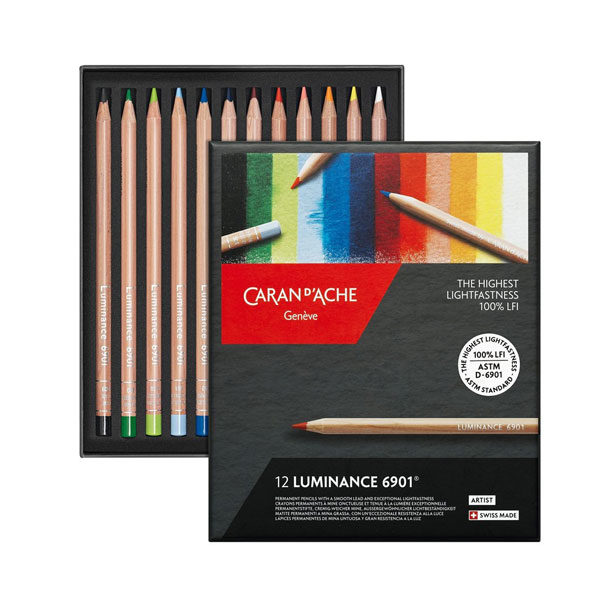 Luminance-Colored-Pencil-12-Set-Caran-dAche