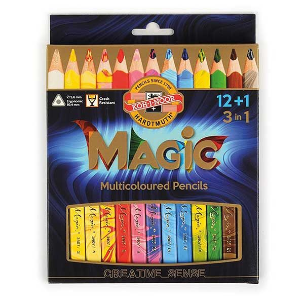 Magic-Multicoloured-Pencils-set-of-13-Koh-I-Noor-Pack
