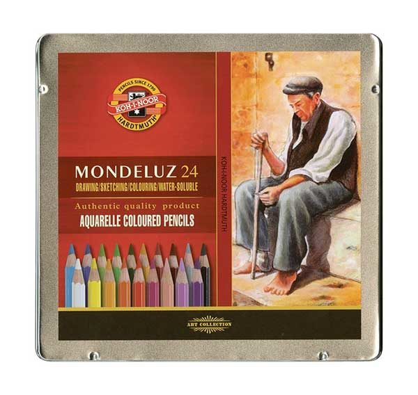 Mondeluz-Aquarelle-Coloured-Pencils-set-of-24-Koh-I-Noor