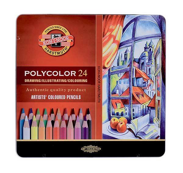 Polycolour-Artist-Coloured-Pencils-Koh-I-Noor-Set-of-24