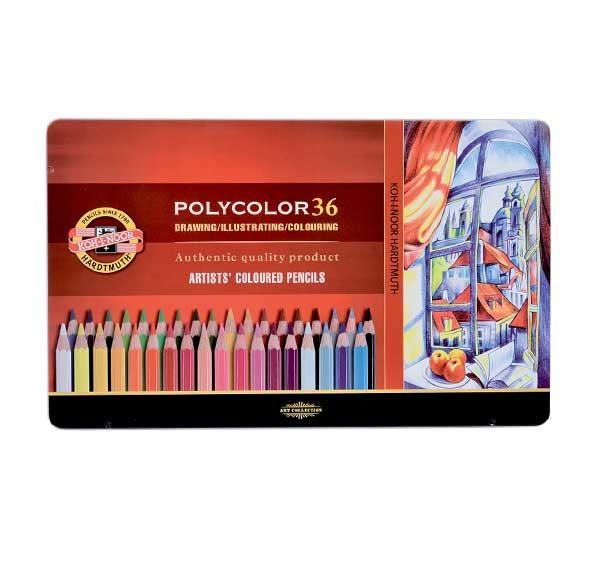 Polycolour-Artist-Coloured-Pencils-Koh-I-Noor-Set-of-36