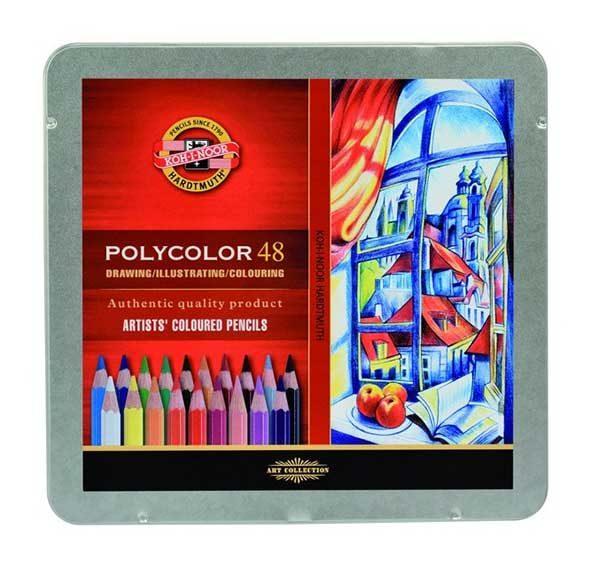 Polycolour-Artist-Coloured-Pencils-Koh-I-Noor-Set-of-48