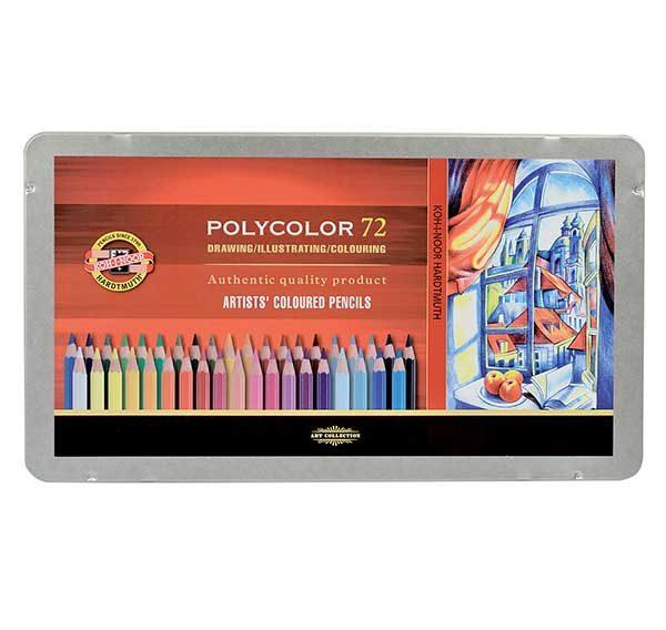 Polycolour-Artist-Coloured-Pencils-Koh-I-Noor-Set-of-72
